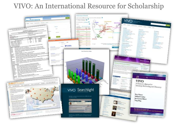 VIVO: An International Resource for Scholarship