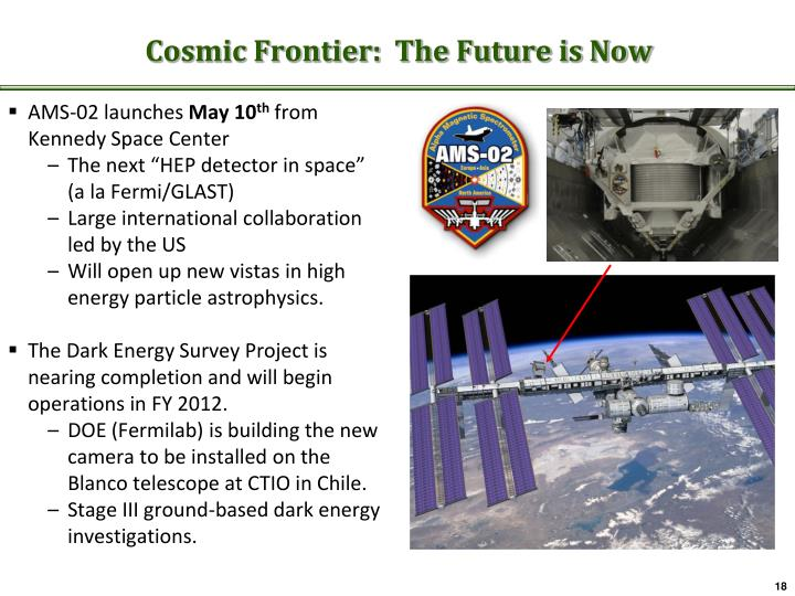Cosmic Frontier:  The Future is Now