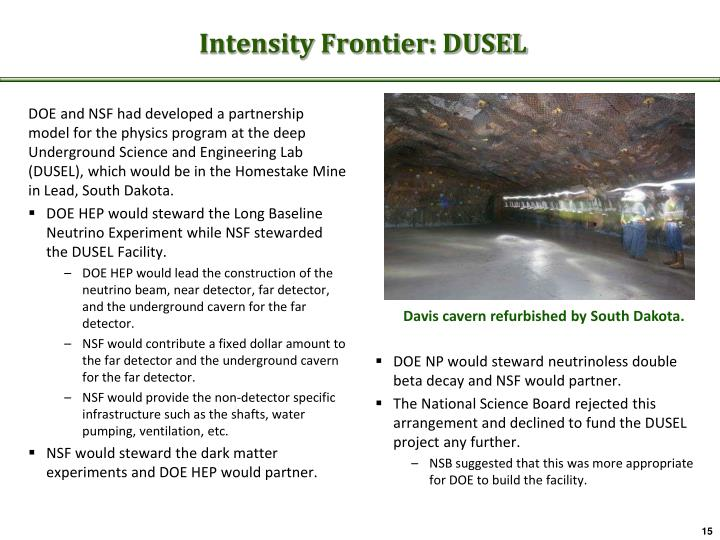 Intensity Frontier: DUSEL