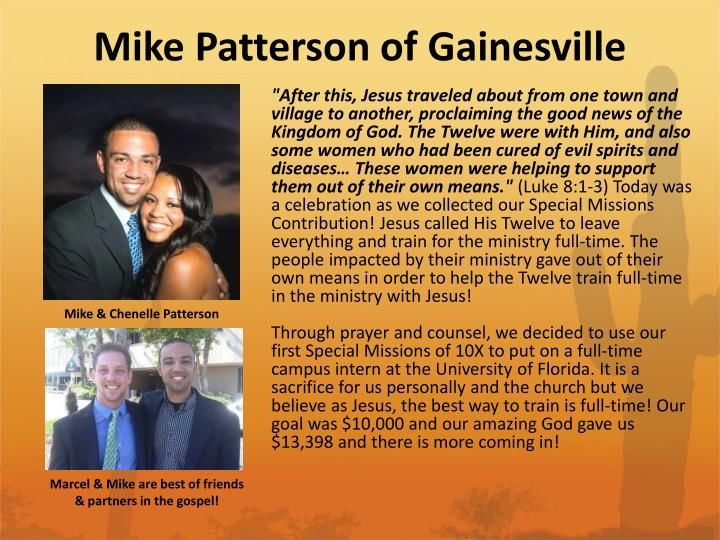 Mike Patterson of