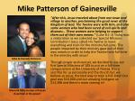 mike patterson of gainesville