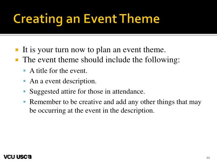 Creating an Event Theme