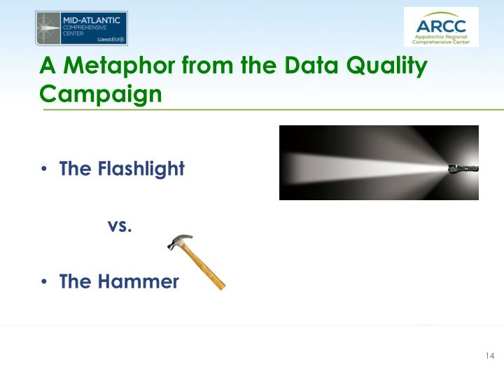 A Metaphor from the Data Quality Campaign