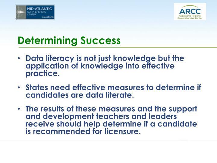 Determining Success