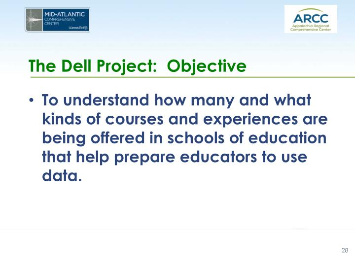 The Dell Project:  Objective