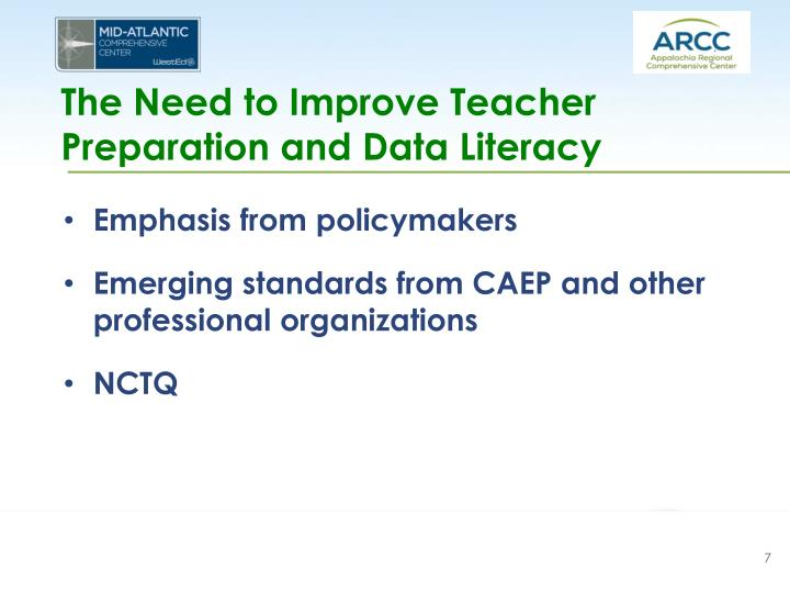 The Need to Improve Teacher Preparation and Data Literacy