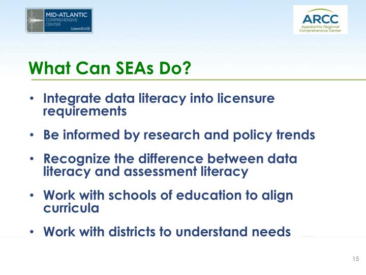 What Can SEAs Do?