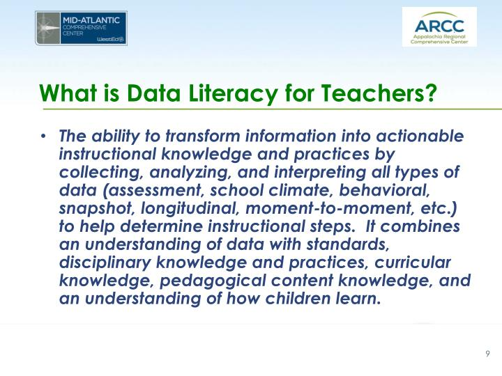 What is Data Literacy for Teachers?