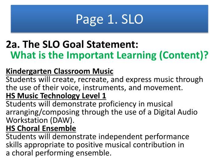 Page 1. SLO
