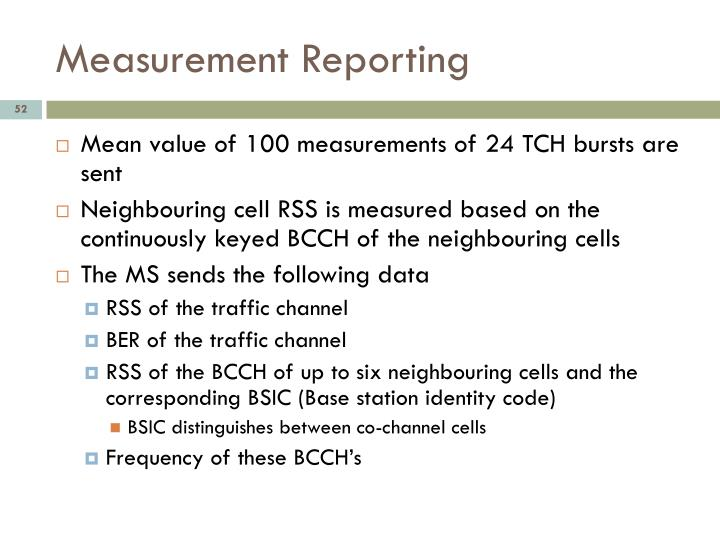 Measurement Reporting
