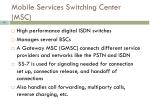 mobile services switching center msc