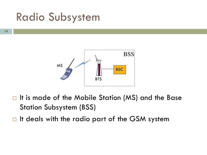 Radio Subsystem