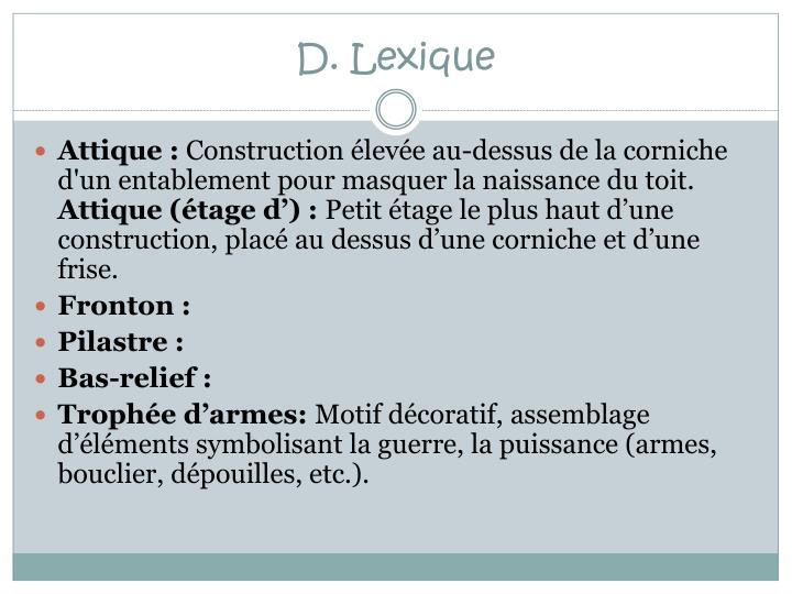 D. Lexique