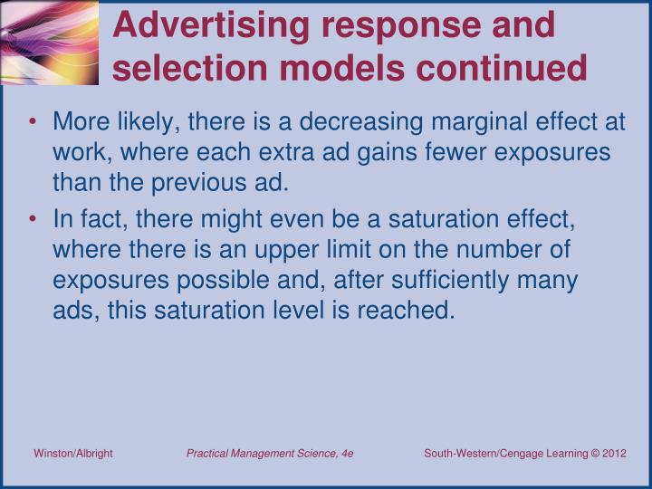 Advertising response and selection