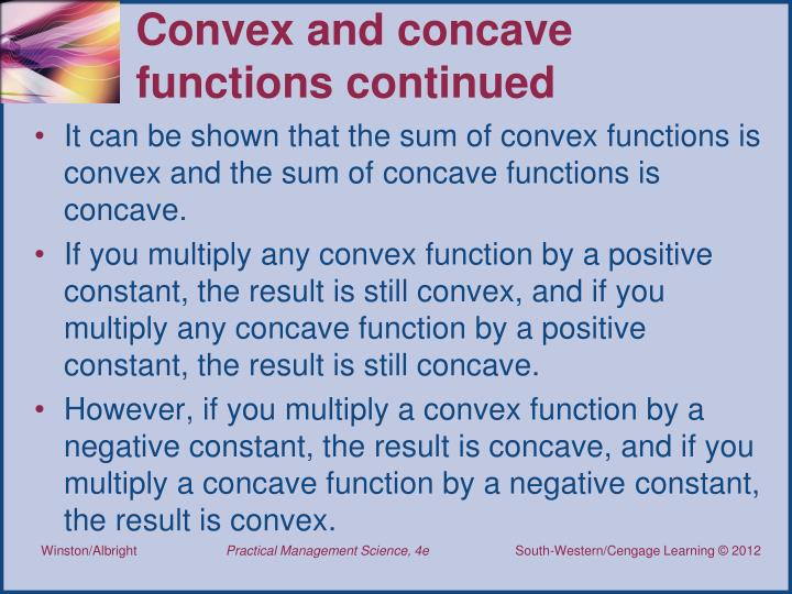 Convex and concave functions continued