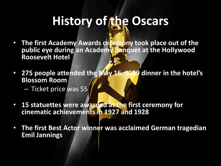 a history of the oscars La la land was announced as the best film winner at the 2017 oscars on sunday night – but then had to hand the award over to moonlight after a mistake was noticed in what was the most dramatic.