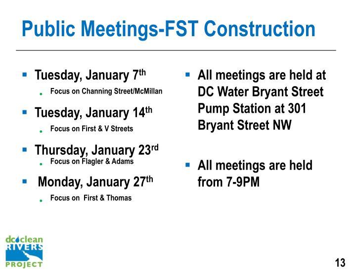 Public Meetings-FST Construction