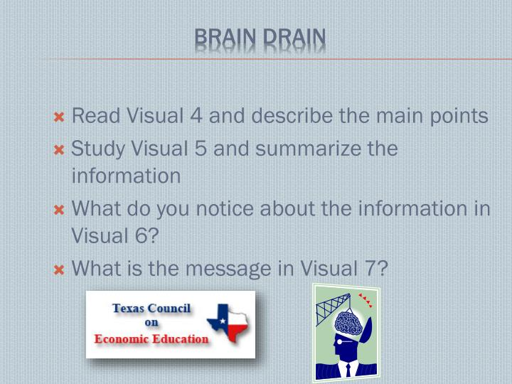 Read Visual 4 and describe the main points