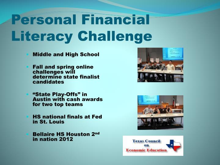 Personal Financial Literacy Challenge