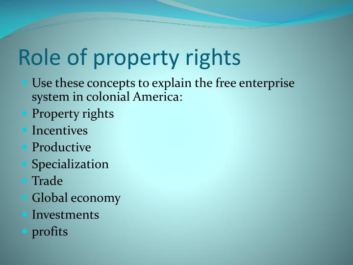 Role of property rights