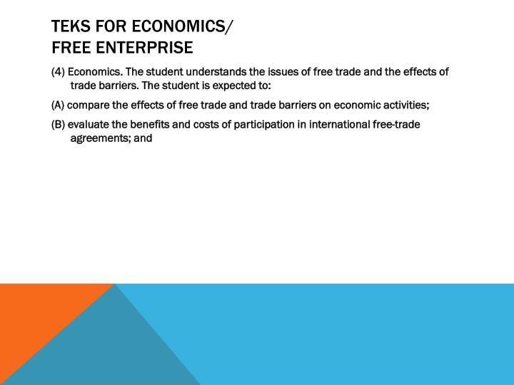 TEKS for Economics/