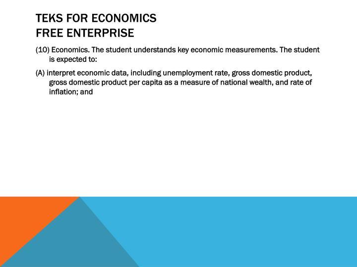 TEKS for Economics