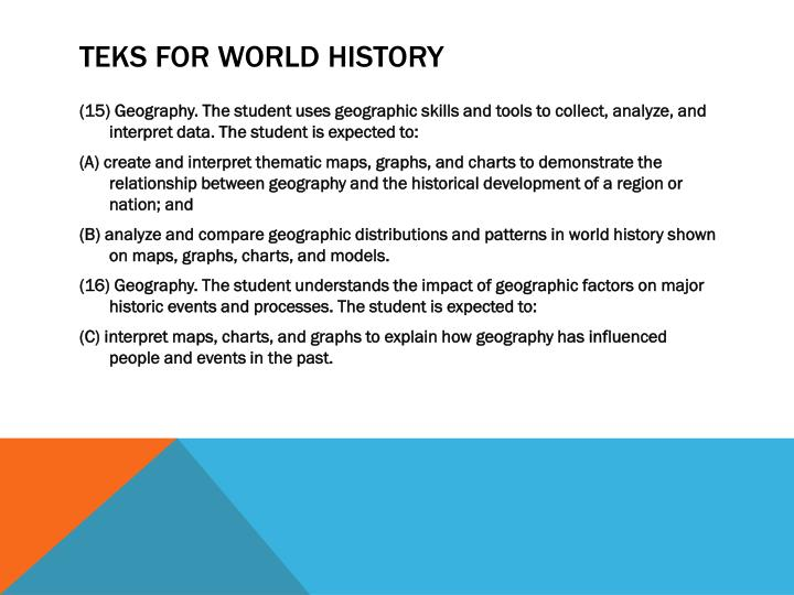 TEKS for World History