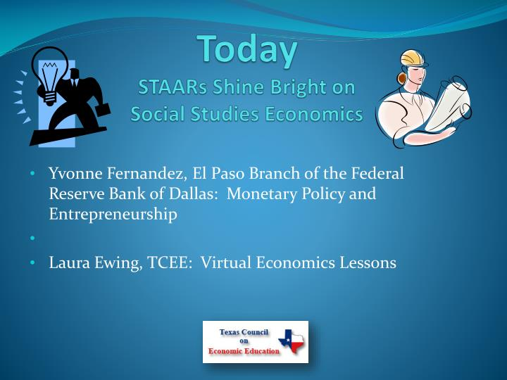 Today staars shine bright on social studies economics