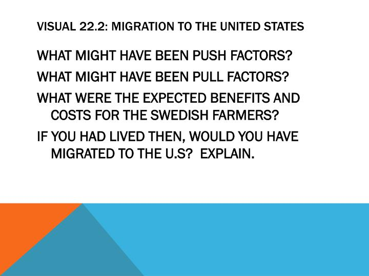 VISUAL 22.2: MIGRATION TO THE UNITED STATES