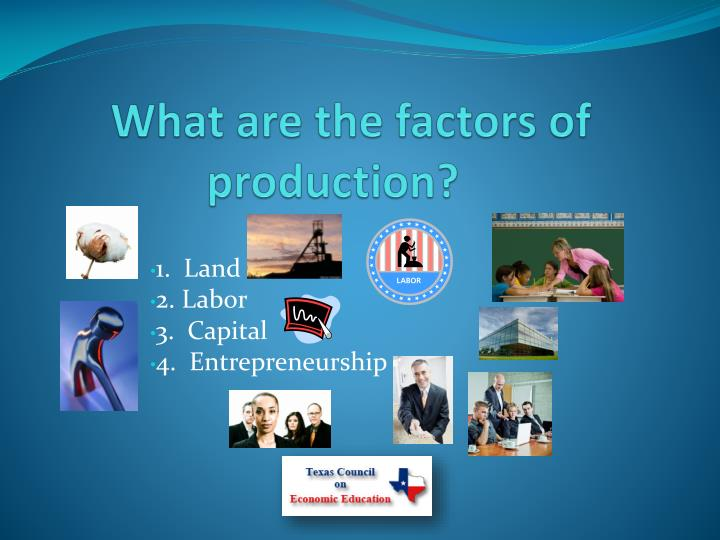 What are the factors of production?