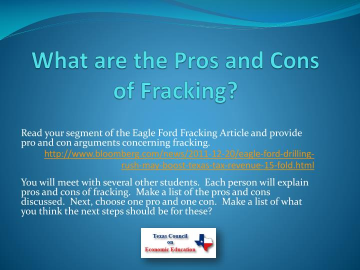 What are the Pros and Cons of Fracking?