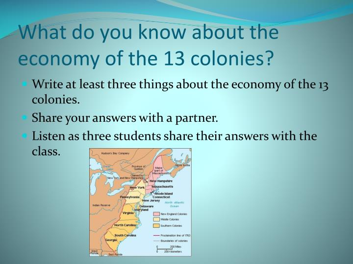 What do you know about the economy of the 13 colonies?