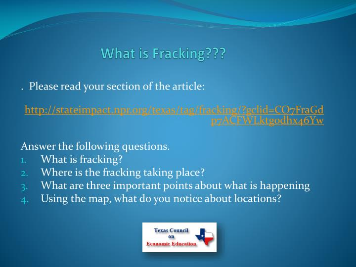 What is Fracking???