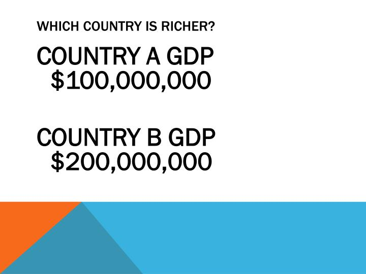 WHICH COUNTRY IS RICHER?