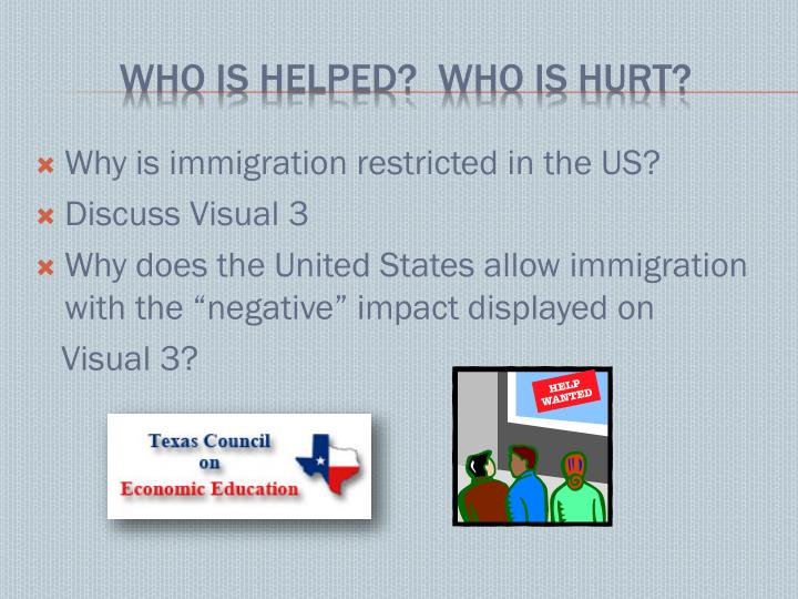 Why is immigration restricted in the US?
