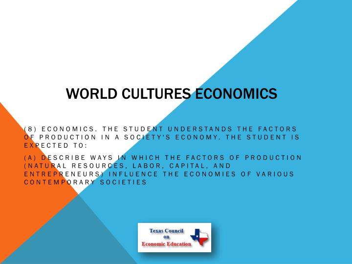 World Cultures Economics