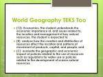 world geography teks too
