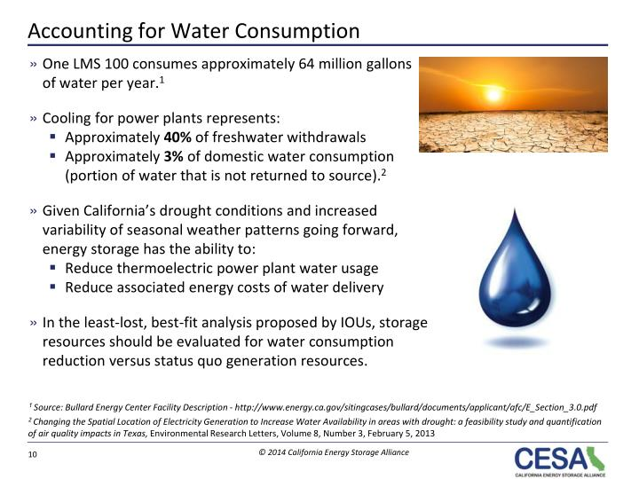Accounting for Water Consumption