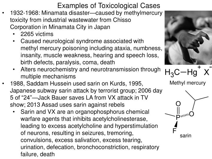 Examples of Toxicological Cases