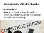 characteristics of health education2