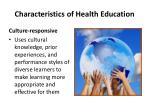 characteristics of health education4