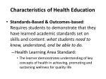 characteristics of health education6