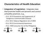 characteristics of health education8