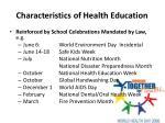 characteristics of health education9