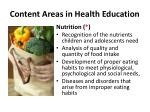 content areas in health education2