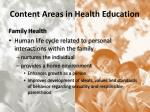 content areas in health education4