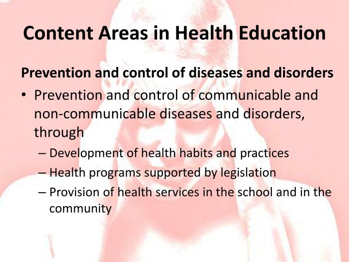 Content Areas in Health Education