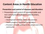 content areas in health education5