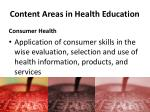 content areas in health education7