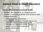 content areas in health education8